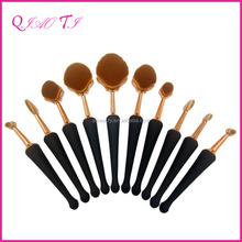 Factory price personalized 10pcs glitter makeup brush professional wholesale