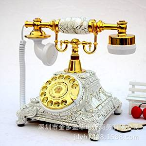 Vintage Creative Dial Desk Telephone For Home and Office Decoration