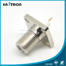 4 hole water proof panel mount female F connector