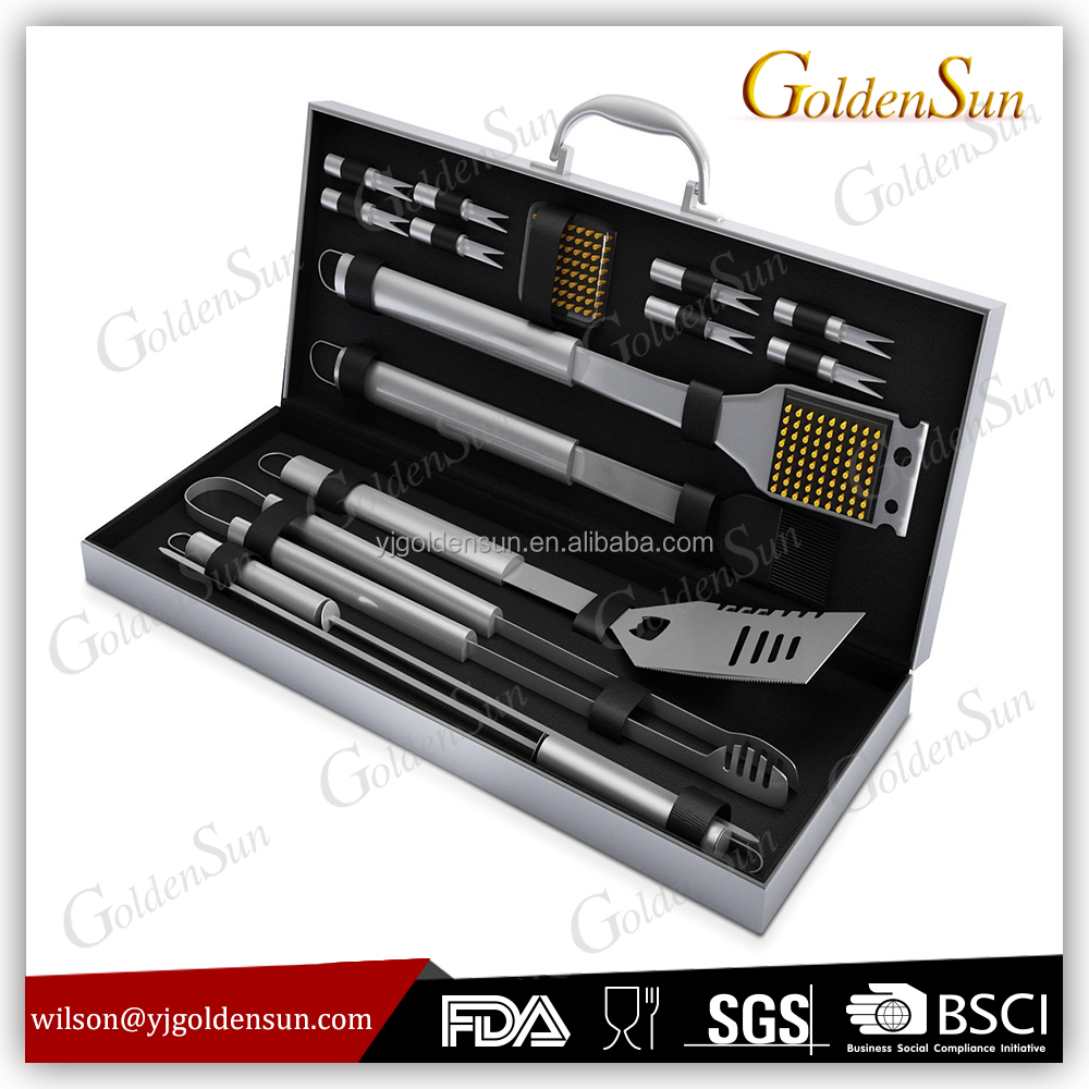 16pcs Stainless Steel Garden Barbecue Tools Set Grill Snap On Bbq Utensil Set