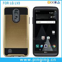 Mobile Phone Back Cover TPU PC Hair Line Brush Mars Armor Case For LG LV3 MS210