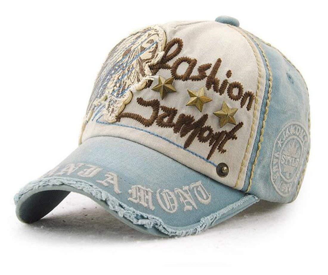 9d5f4d95401 Tmrow 1pc Casual Rivets Cotton Baseball Cap Outdoor Hat Denim Cap for Women