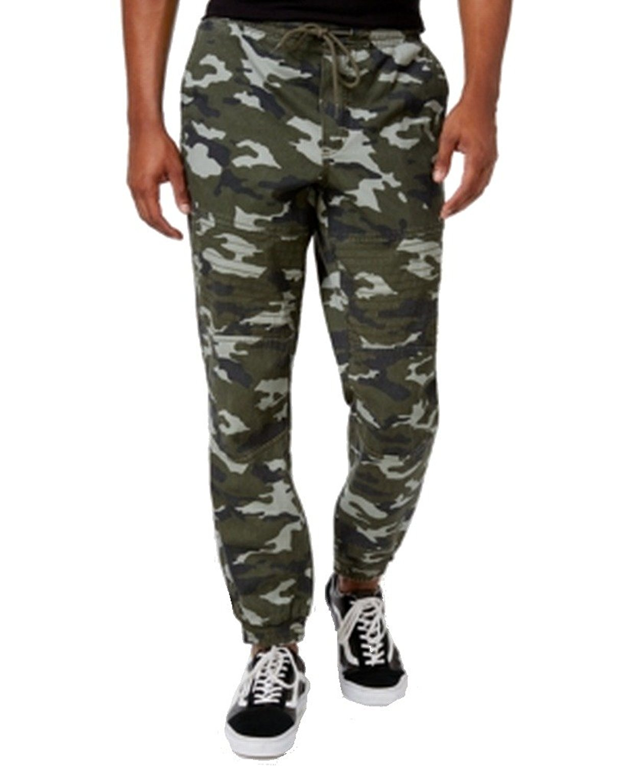 American Rag Gray Mens Drawstring Camo Jogging Pants Green 2XL