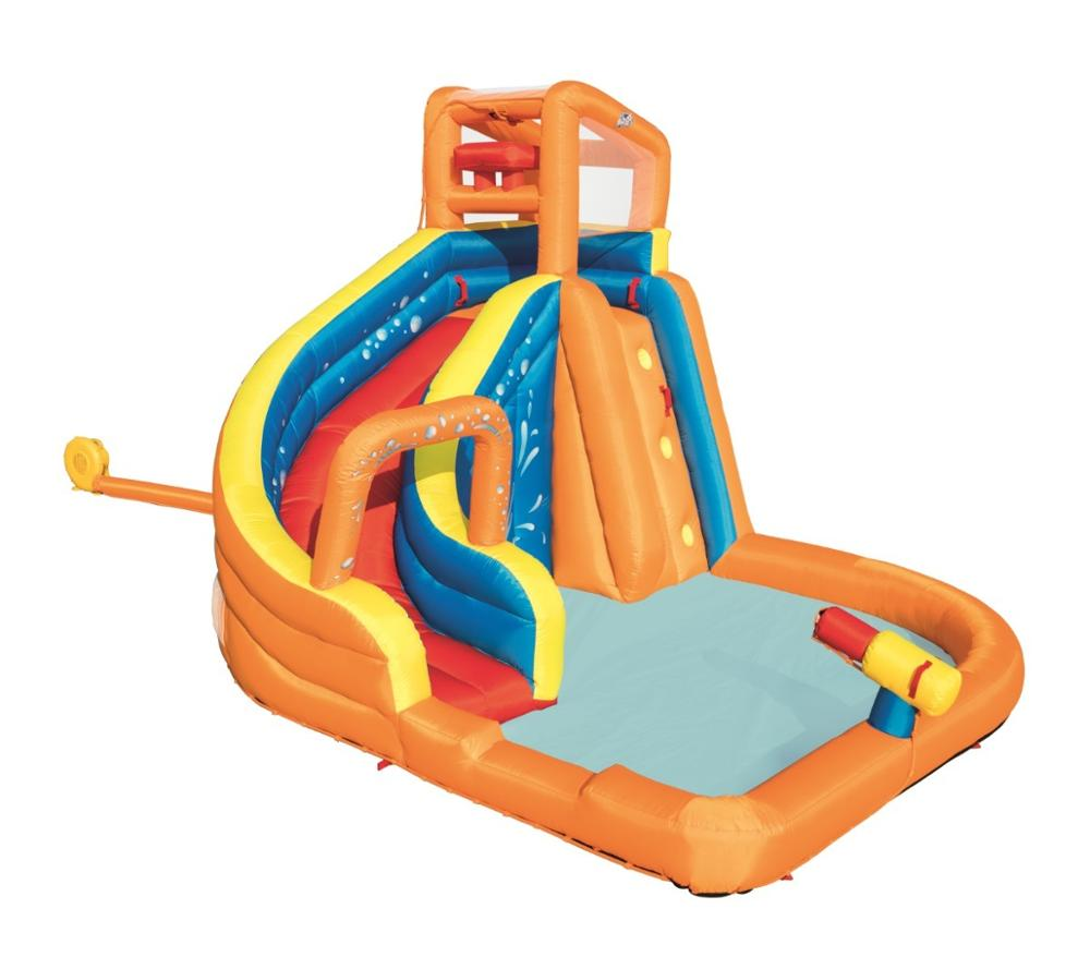 Bestway 53301 inflatable amusement water park with slide for kids фото