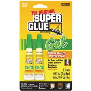 Super Glue Sgg22-48 Thick Gel Super Glue Tubes (Double Pack) Product Type: Glues & Adhesives/Glues & Adhesives