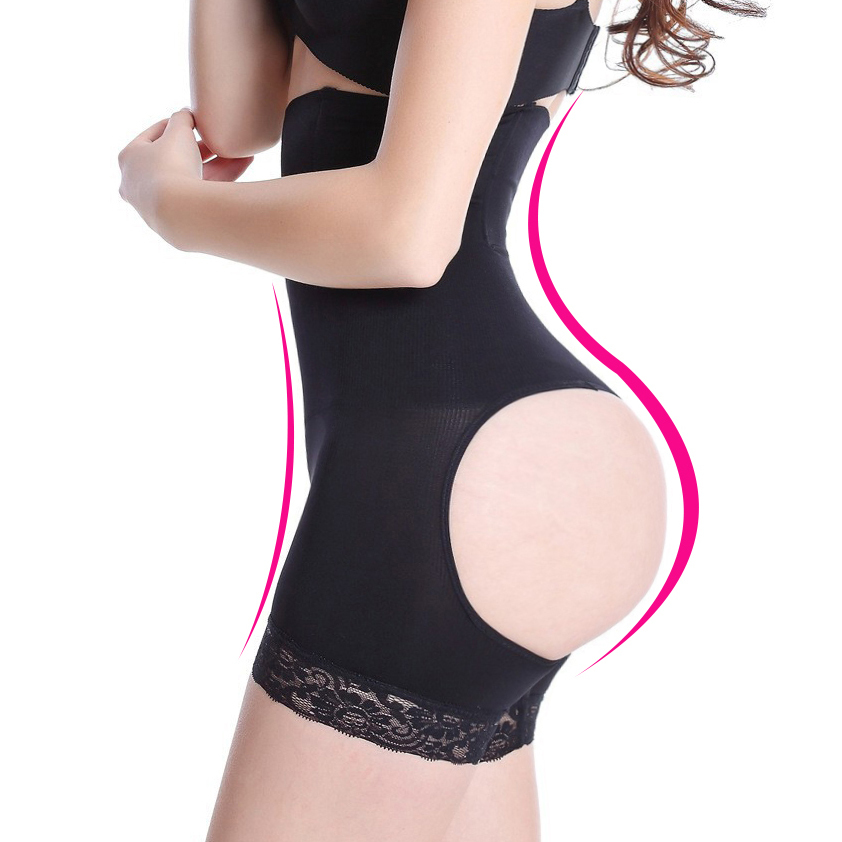 5f0bf072d2 Buy High waist butt lifter with tummy Buttocks Enhancer Cincher Waist  Trainer women butt lifter shaper control panties sexy butt in Cheap Price  on ...