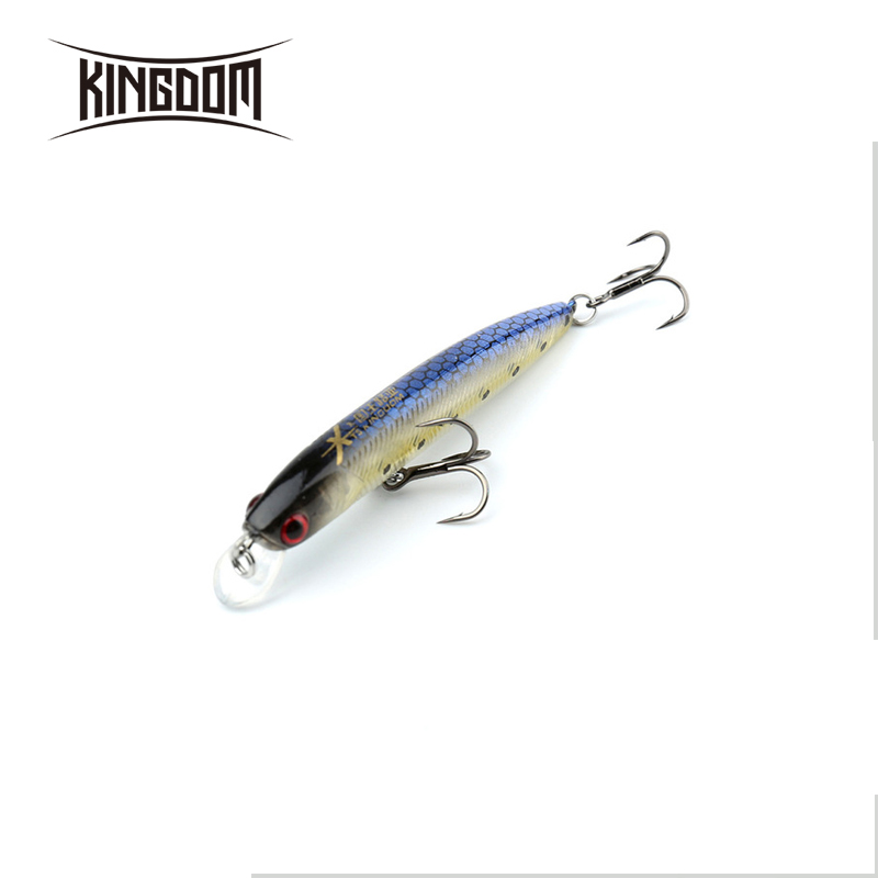Kingdom small minnow <strong>fishing</strong> lure 65mm 3.2g hard bait <strong>fishing</strong> tackle plastic lip VMC hook model 3522