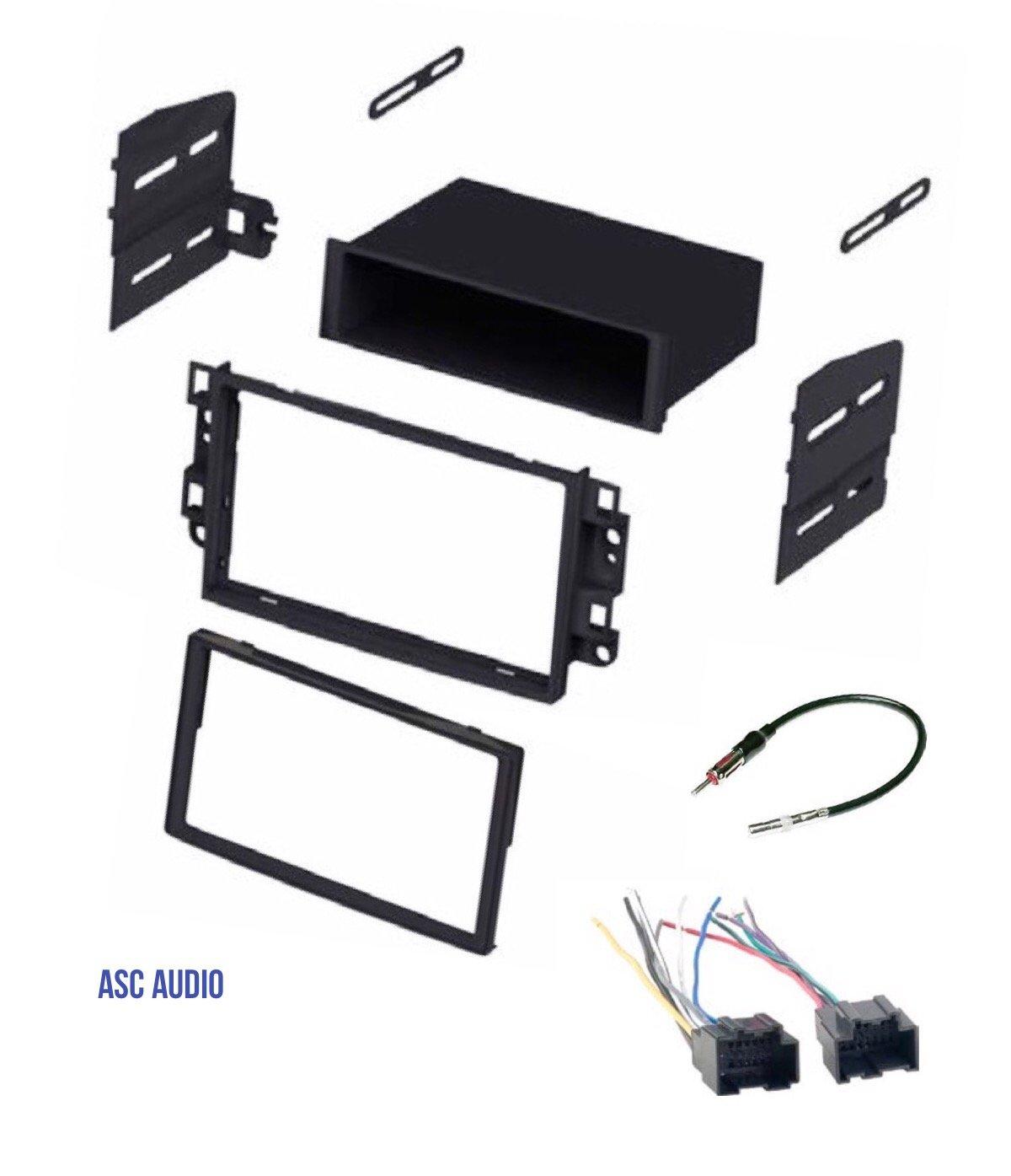 ASC Car Stereo Dash Kit, Wire Harness, Antenna Adapter to Install Radio for some Pontiac G3 (2007-2009 Sedan Only) - Chevrolet Aveo (2007 2008 Sedan Only)- Chevrolet Aveo (2009 2010 2011 All)