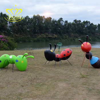 Outdoor Home & Garden Decorate Fiberglass New Product Large Cartoon Ant Sculpture