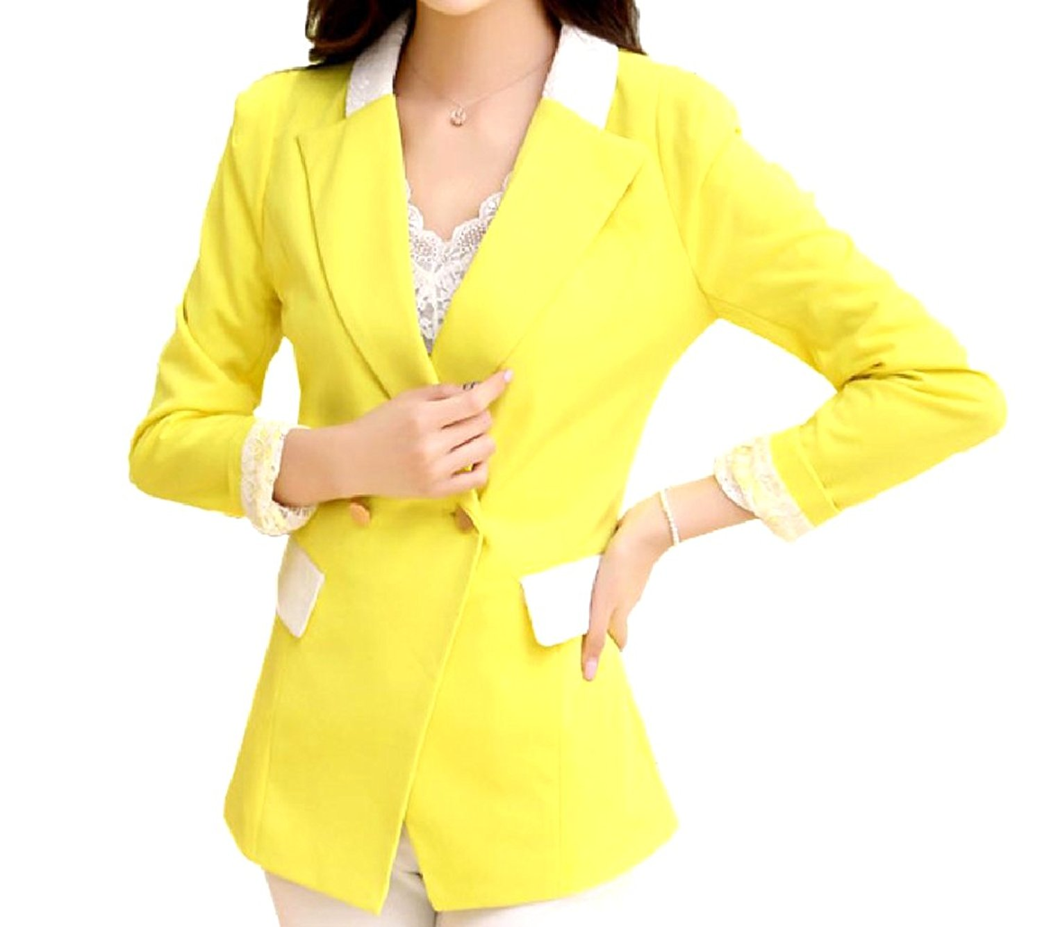 YUNY Women Center Vent Regular Fit Business Suit with Pockets
