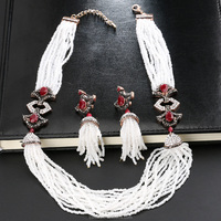 New Arrivals African Beads Jewelry Set 2018 Nigerian Wedding & Engagement Necklace Earring For Women Handmade Indian Jewelry
