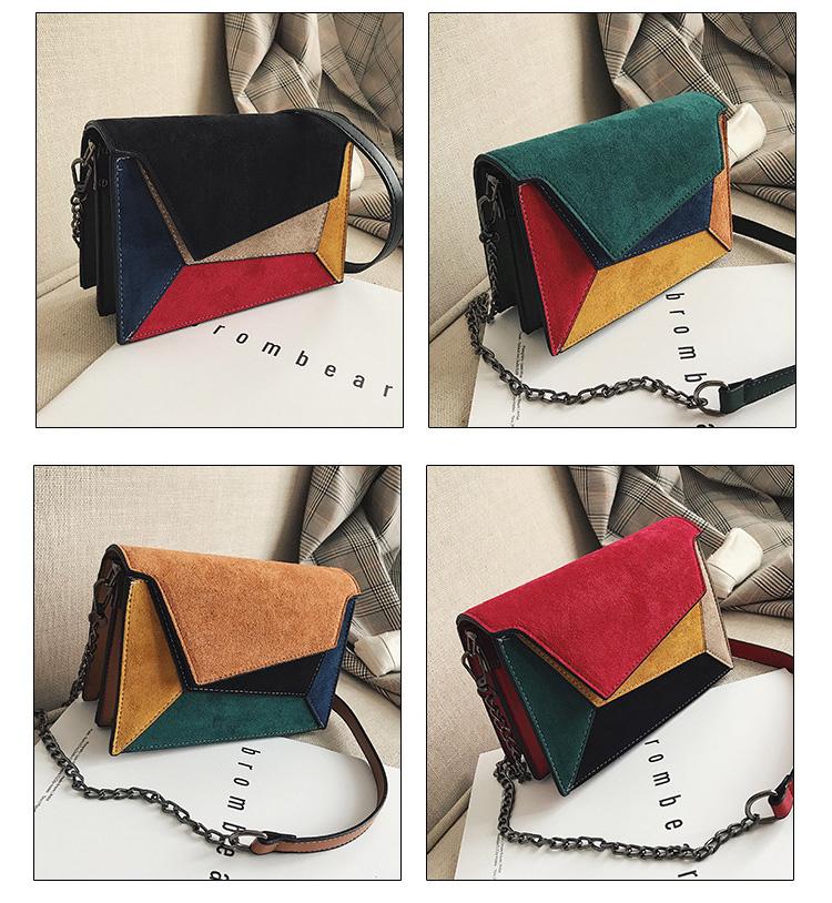 China Supplier 2019 New Fashion Color Block Crossbody Bags Bright Fresh Contrast Colors Women Handbags Wholesale