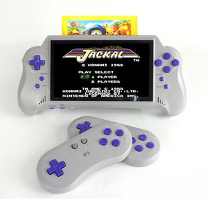 Free shipping DHL 7 inch LCD display built in 8 bits 121 retro games wireless handheld game console