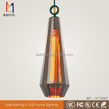 Chrome fancy puzzle chandelier lighting chimney glass pendant lamp with CE ROHS