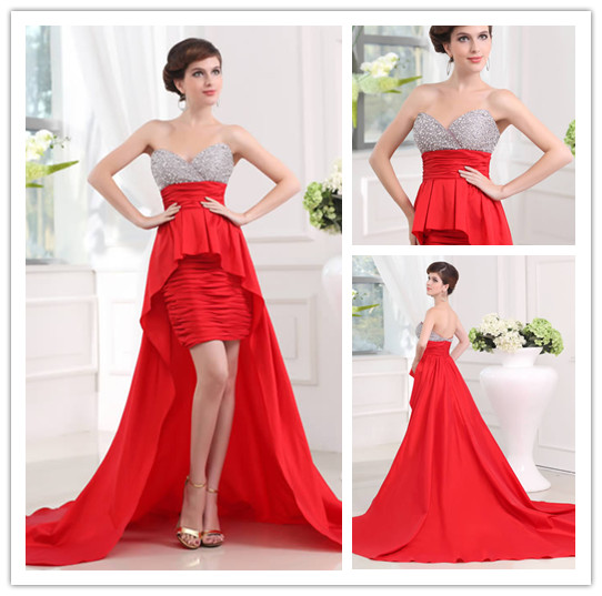 Vestidos para damas de honor color rojo