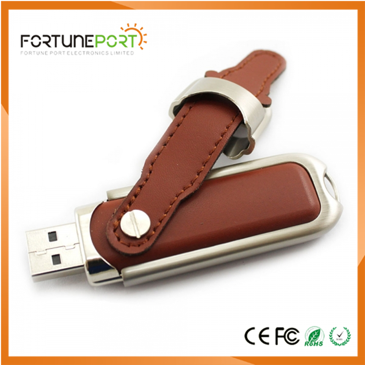 2017 Cheap Items Leather USB Card With Loho Printing For Wholesale Supplier