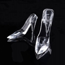 Wholesale Beautiful Clear Crystal High-Heeled Wedding Shoes Souvenirs Guests Gifts