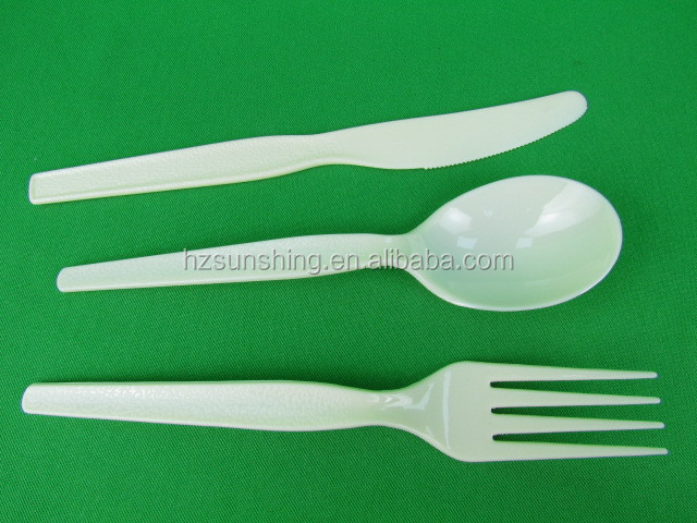 Eco-friendly plastic disposable airline cutlery set,plastic airline inflight cutlery