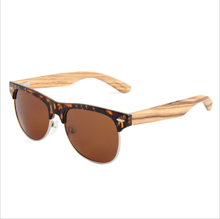 Colorful Classic Vintage UV Protection Wooden Sun Glasses Men Women Polarized Bamboo Sunglasses
