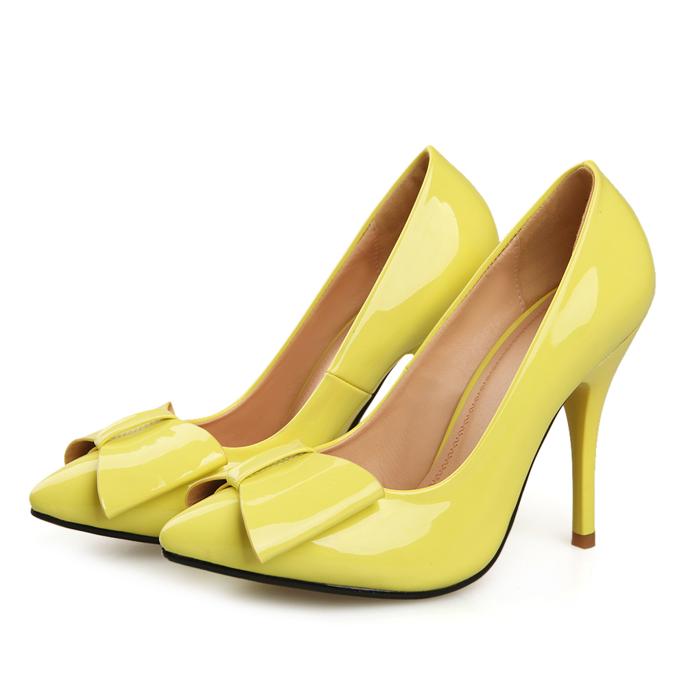 Yellow Bow Heels | Tsaa Heel