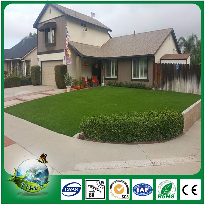 3 color with u shape artificial grass for garden decoration