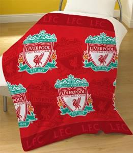 Liverpool FC Official Fleece Blanket Throw