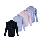 Eco friendly daily wear 100% cotton printed pattern full sleeve man clothes shirts