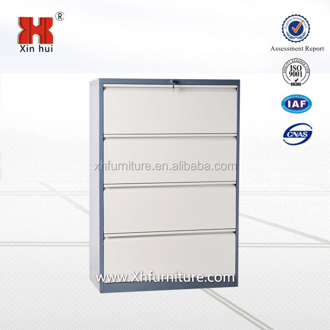 Henan steel office furniture 4 drawer lateral filing cabinet/vertical file cabinet/industrial metal cabinet