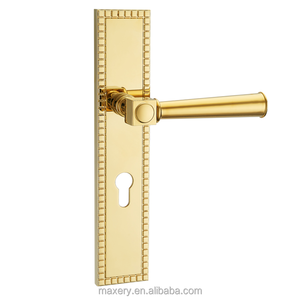 Zinc/Zamak door lever handle with long plate/frame