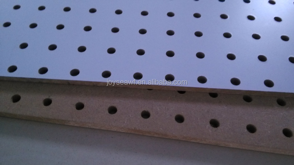 Hole board perforated mdf wood wall board melamine and raw hardboard peg board buy hole board - Panneau mdf 3mm ...