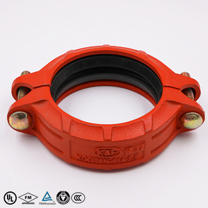 grooved pipe fittings red rigid coupling with FM/UL approval
