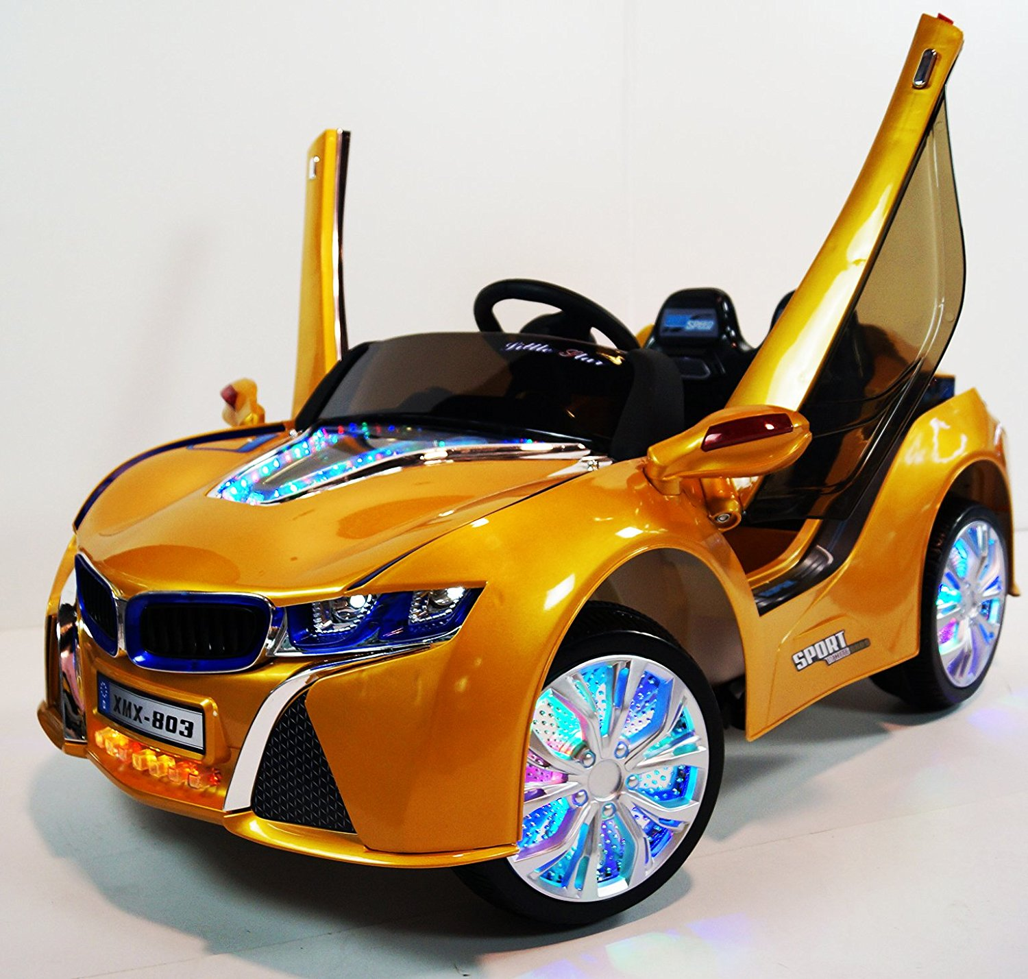 Buy Bmw I8 Xmx 803 Gold Yellow Style Ride On Car Remote Control 12v