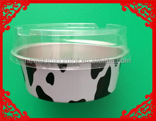 foil baking cup 50ml with lid cow lines box
