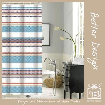 New Design Peva Printed Shower Curtain Ready Made Factory - Buy Peva ...
