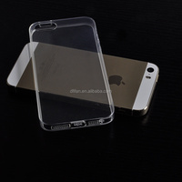 DFIFAN For iphone 5 /SE High quality transparent tpu cover cases, clear mobile cell phone case for iphone 5s