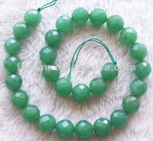 12mm round faceted green aventurine faceted gemstones wholesale