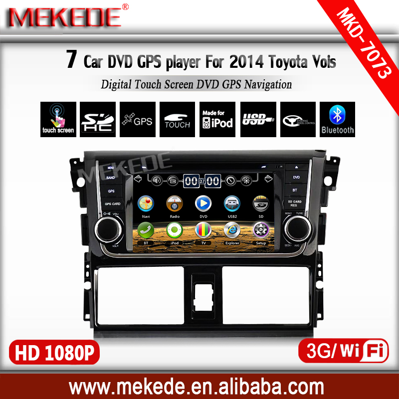 7inch tousch screen <strong>Car</strong> multimedia player for Vios 2014 with CPU MTK3360NCG