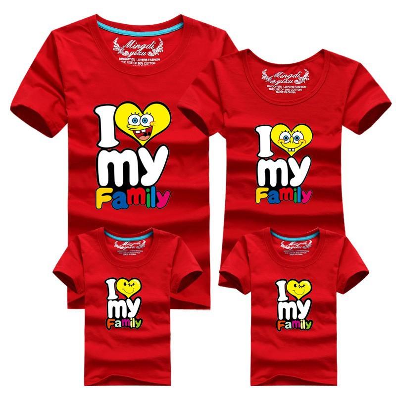 0d54249f Wholesale HOT Selling 95% Cotton Shirt Yellow Family Set T Shirts ...