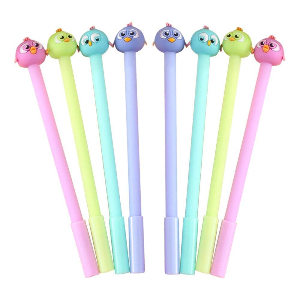 "Baidercor 7"" Cute Bird Gel Pens Set of 8"