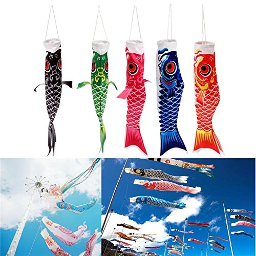 40cm Chic Japanese Windsock Carp Flag Nobori Sailfish Fish Wind Streamer Decor