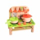 Wholesale Hot Sale delicate small wooden tabletop kitchen ware toy for children small wooden mini child's kitchen set toys