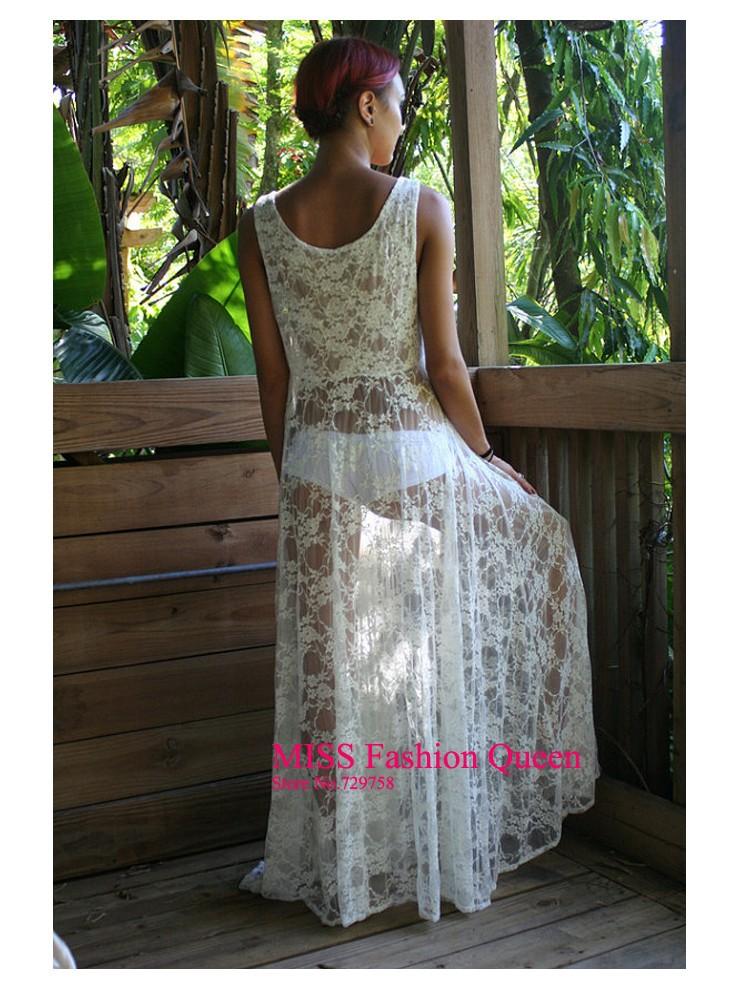 dcefa223b004 Wholesale NEW! Fashion Women Honeymoon White Lace Maxi Dress , Women ...