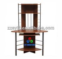 High quality mdf metal computer desks side tables with shelf