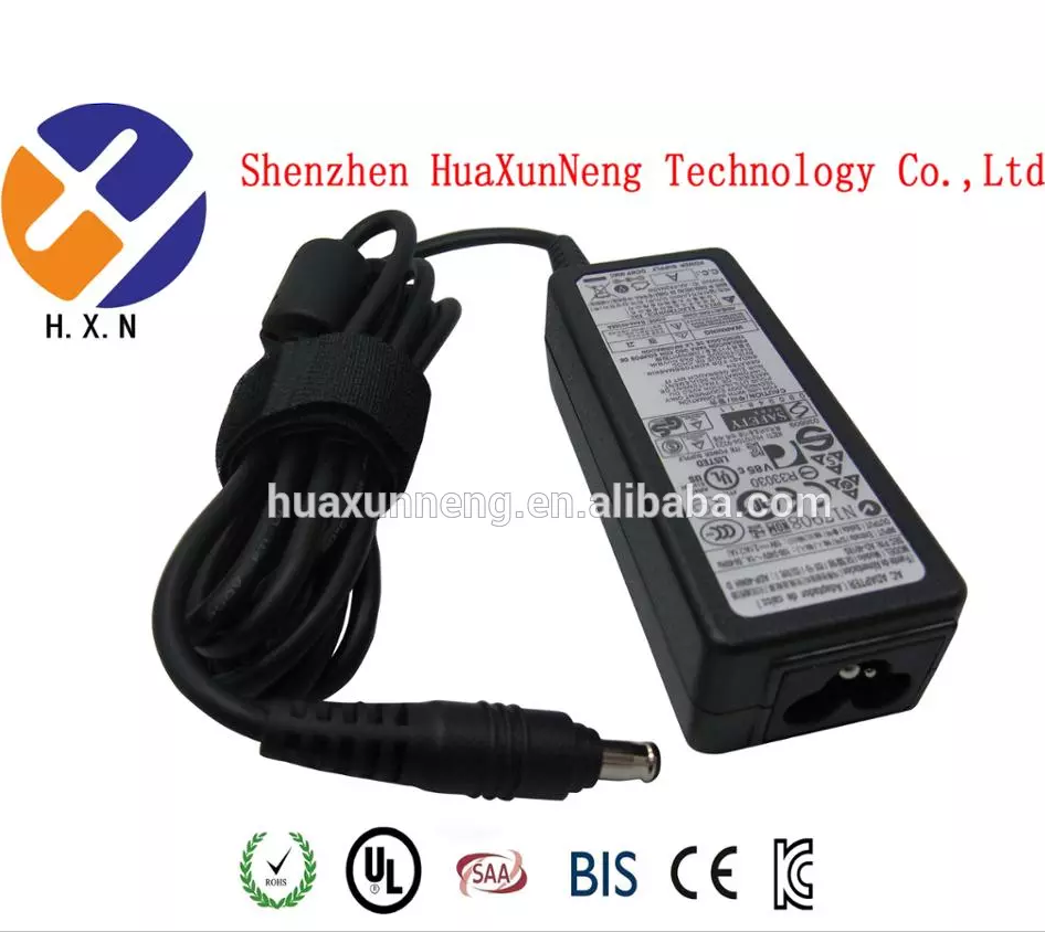 wholesale notebook laptop charger for samsung 19V 3.15A 60W 5.5*3.0 mm Laptop AC DC power adapter with CE ROHS UL SAA BIS IC