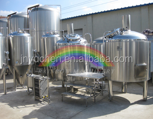 10 BBL Brewery line with mash, brew, fermenter controller cooling system
