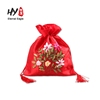 Custom Print Smooth Satin Wholesale Drawstring Funny Mini Gift Bags
