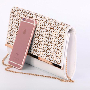 New arrival beautiful smooth 210D cool PU bags evening bag
