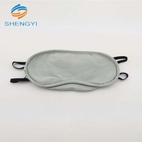 Hot sale blue smooth fabric sleep eye mask blindfold for resting