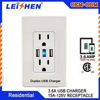America Electrical Socket Wall Socket Usb Charger American
