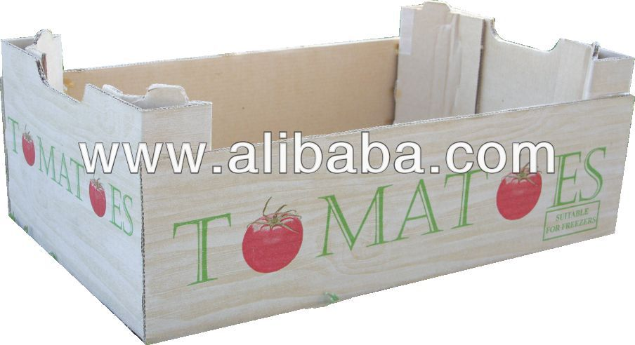 6kg Paper Tomatoe box - Machine folded